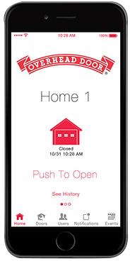 OHD Anywhere: garage door opener iPhone app